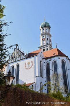 L'église Saint Ulrich dans la Maximilanstrasse, avenue Renaissance d´Augsbourg