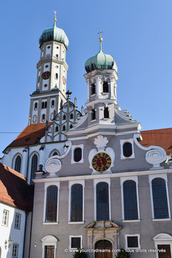 Les églises Ste Afre et St Ulrich à Augsbourg, Bavière