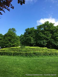 Le labyrinthe du parc de Munich