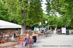 Le Biergarten Hirschau dans le jardin anglais