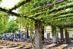 Le Biergarten du Park Café à Munich
