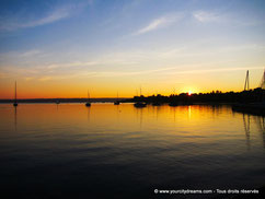 soleil lac