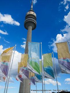 La tour de télévision de l´Olympiapark est le plus grand édifice de Munich.