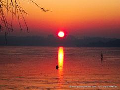 coucher soleil lac
