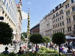Voyage en Bavière - Kaufingerstrasse, rue commerçante pietonne