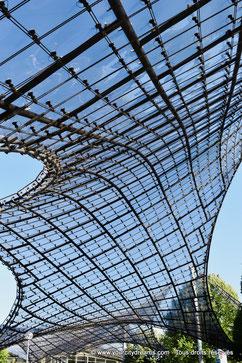 Les toits du parc olympique de Munich