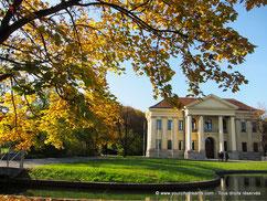 Le jardin de la cour dans le centre ville de Munich
