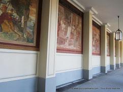 Galerie peinte dans les arcades du jardin du Hofgarten à Munich
