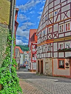 Maisons à colombages à Wurtbourg