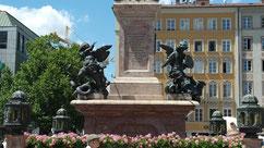 La colonne de sainte Marie à Munich