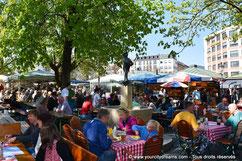 Visiter Munich - Biergarten Viktualienmarkt