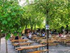 Biergarten du Westpark à Munich
