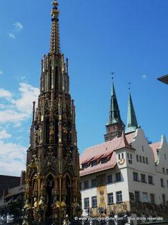 Jolie fontaine de Nuremberg