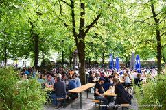 Le Biergarten Hofbräukeller à Haidhausen à Munich