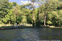 L'Eisbach, la rivière du jardin anglais