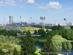 Les stades du parc olympique de Munich