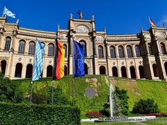 Parlement de Bavière au bord de l'Isar