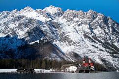 lac bavarois en hiver