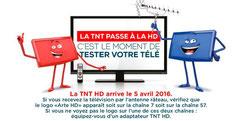 TNT - Haute définition (HD) à partir du 5 avril 2016
