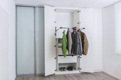 Tischlerei Feinschliff, Drehtüren, Schiebetüren, Kleiderlift mechanisch, Schubladen