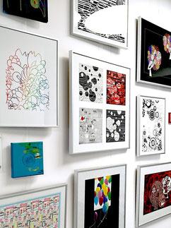 Designverlangen - Ausstellung: VHS Grünwald, Kunstforum Römerschanz im Bürgerhaus, Kunst an der Wand