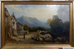 Deutscher Romantiker, frühes 19. Jahrhundert, Öl auf Leinwand, Goldrahmen, € 1250,00