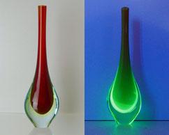 Murano, Sommerso, Uranium, Glasvase, Tropfenform, 28,2 cm , € 149,00