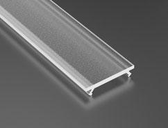 Abdeckung für Aluminiumprofile frosted