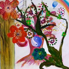 """Yin und Yang im Gleichgewicht für Glück und Erfolgt, #Buddhismus Werk 06 Serie """"Glück und Zufriedenheit"""" by Atelier Zippo"""