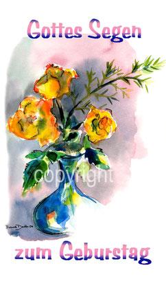 gelbe Rosen in vase