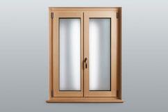 Holz-Alu-Fenster Classic  Fichte farblos   Innenansicht