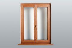 Natur-Holz Fenster Lärche geölt   Innenansicht