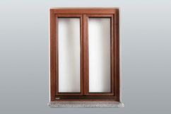 Natur-Holz Fenster in Lärche   Aussenansicht