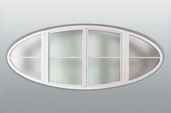 Ovale Fensterform / Aussenansicht