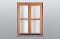 Natur-Holz Fenster Fichte /  Aussenansicht
