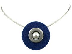 Halskette dunkelblau