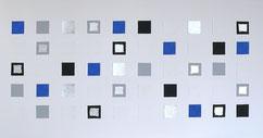 Leinwand mit farbigen Quadraten