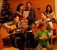 Familie Kraus bei der Eröffnung des Adventmarktes 2012