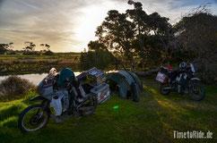 Neuseeland - Motorrad - Reise - Camping auf dem Weg zum Cape Reinga