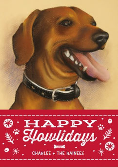 dog and cat drawings are perfect for personalized holiday cards