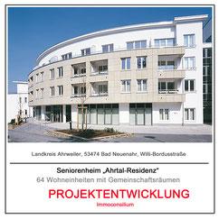 projektentwicklung seniorenheim residenz architekt planung vertrieb immoconsilium 53474 bad neuenahr ahrweiler verkauf kapitalanlage