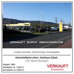 53424 Remagen ahrweiler lidl discounter supermarkt kapitalanlage projektentwicklung autohaus opel gerlach vertrieb verkauf gewerbeimmobilie immoconsilium makler