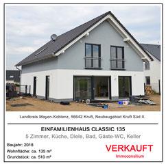 hausbau einfamilienhaus classic 135 neubau architekt immoconsilium makler 56642 kruft neubaugebiet kruftsüd