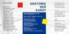 ANATOMIE hinterfragt im geläufigen Sinne den Aufbau und die Funktionsweise des menschlichen Körpers. Wie aber die Funktionsweise von Kunst sein kann, das zeigen 25 Künstlerinnen in der spartenübergreifende Kunstausstellung der GEDOK Gruppe Sachsen/Leipzig