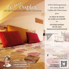 Flyer 16x16 cm  pour un gîte (2017) Le Petit Duplex
