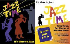 Carton pour concert jazz par Carole Mizrahi - Effet Immediat