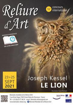 Dépliant A5 pour Biennales Reliure d'Art 2021