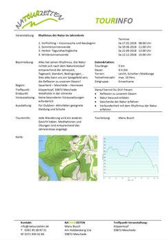 Tourinfo - Rhythmusd er Natour im Jahreskreis; A4 Infoblatt