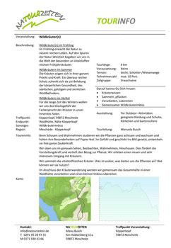 Tourinfo - Wildkräuter(n); A4 Infoblatt