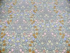 40サテン 小花柄グリーン